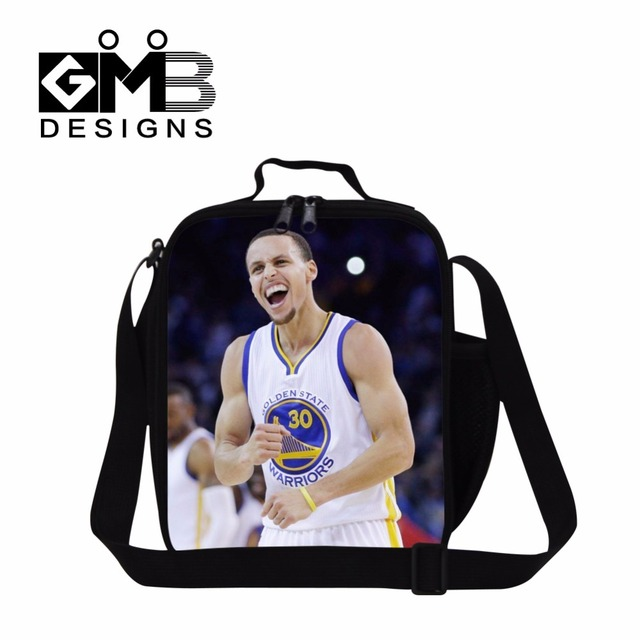 Stephen Curry Lunch Bags for Boys,Children's Meal Bags,Shoulder Lunch Box Bag cooler bags for men,Adults lunch container office