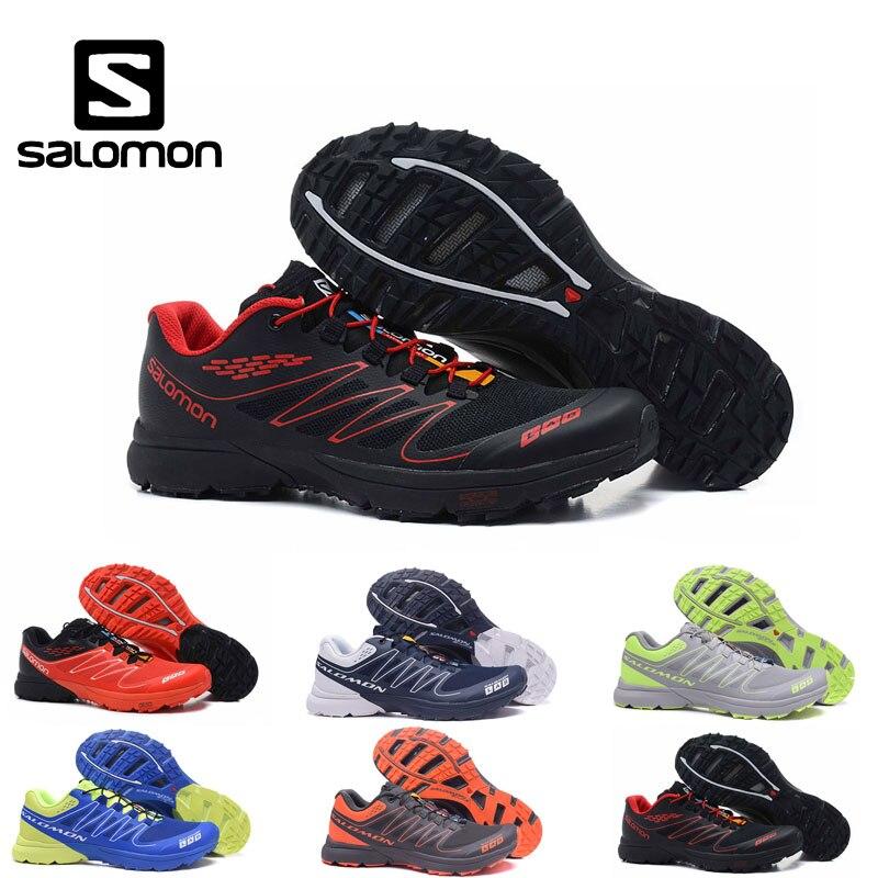 Salomon S LAB Black SENSE M Men Shoes Outdoor Jogging Sneakers Lace Up Athletic Shoes Fencing Breathable Low Shoes size 40 46