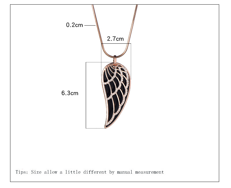 New 2018 Crystal Luxury Feather Angel wings Long Necklaces Pendants Rose Gold Fashion Collier Jewelry for women Dropshipping 23