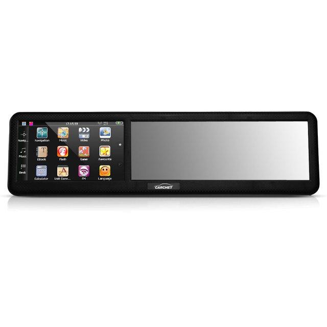 """CARCHET 4.3 """"HD Touch-screen AV-IN de Navegação GPS Do Carro Espelho Retrovisor Espelho de Vista Traseira 8 GB 128 MB Bluetooth Mapa Europa"""