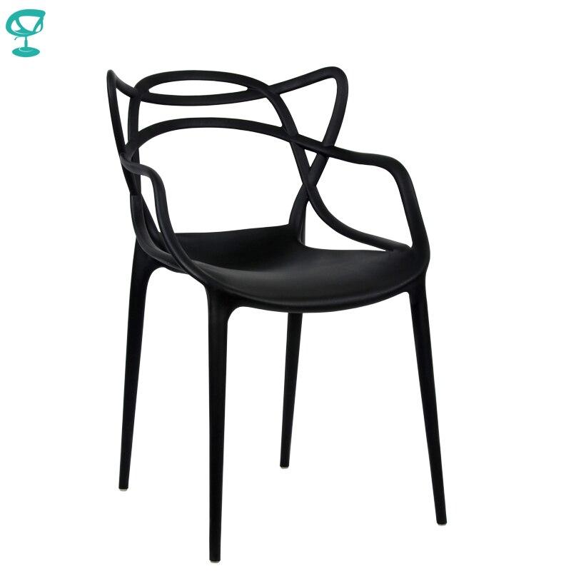 94974 Barneo N-221 en plastique cuisine tabouret intérieur chaise pour une rue café chaise meubles de cuisine noir livraison gratuite en russie