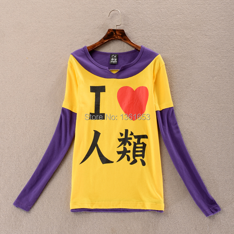 Anime The game of life no game no life I love human fake two-piece long-sleeved short-sleeved t-shirt
