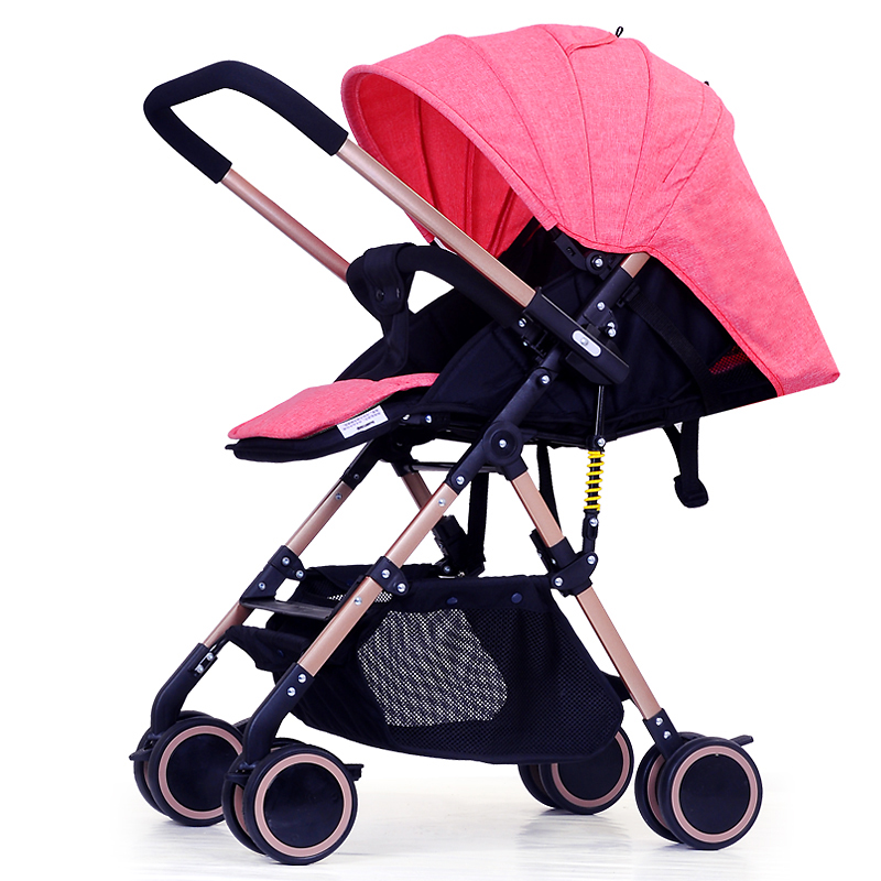 China cheap Lightweight Baby Stroller 6.9KG Folding light can sit and lie Carriage Buggy Pushchair Pram Newborn Infant Car