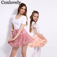 Mother Daughter Tutu Skirts Summer Princess Party Dance Mom And Girl Tulle Ballet Pettiskirt Family Matching