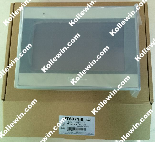 Original WEINVIEW HMI MT6071iE with 7'' TFT Display, MT 6071iE Touch Panel, LCD , LED,  COM 2,COM3/ RS485 support  MPI 187.5K touch screen 7 inch hmi mt6071ie weinview new