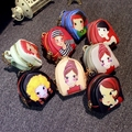 Low price cute little cartoon girl pattern pu leather mini purse bag Wallets Wallets car accessories ornaments free shipping