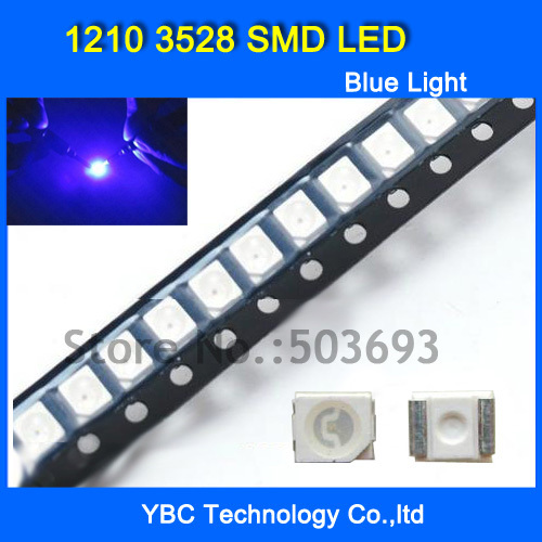 2019 Latest Design 200pcs/lot 1210 3528 Smd Led Ultra Bright Blue Light Diode Wholesale Retail Dropship A Complete Range Of Specifications Transistors