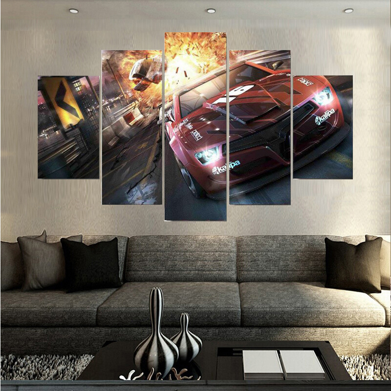 Beautiful Sports Car Canvas Painting Unframed Home Wall Art Decoration Oil Painting For Living Room Free Shipping