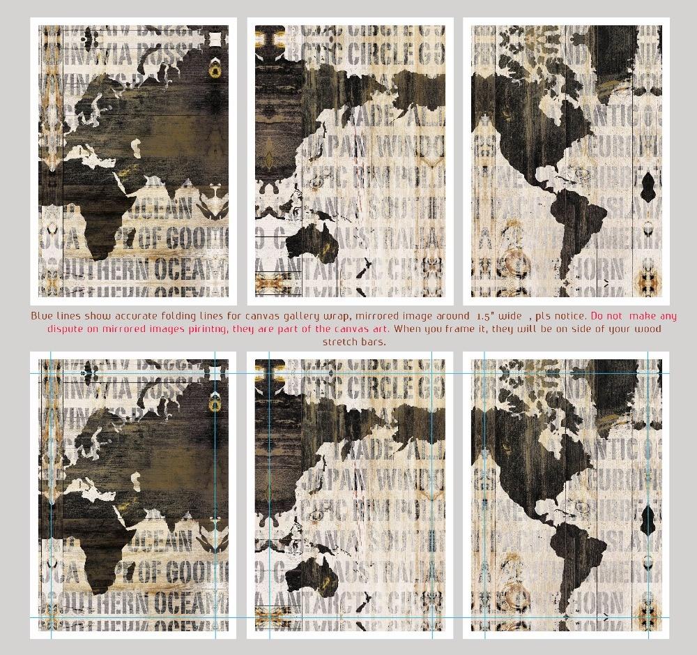 3 en 1 world map canvas art print impresin de la pintura de pared 3 en 1 world map canvas art print impresin de la pintura de pared del arte grande para el hogar y la oficina decoracin de la pared decoracin del hogar gumiabroncs Choice Image