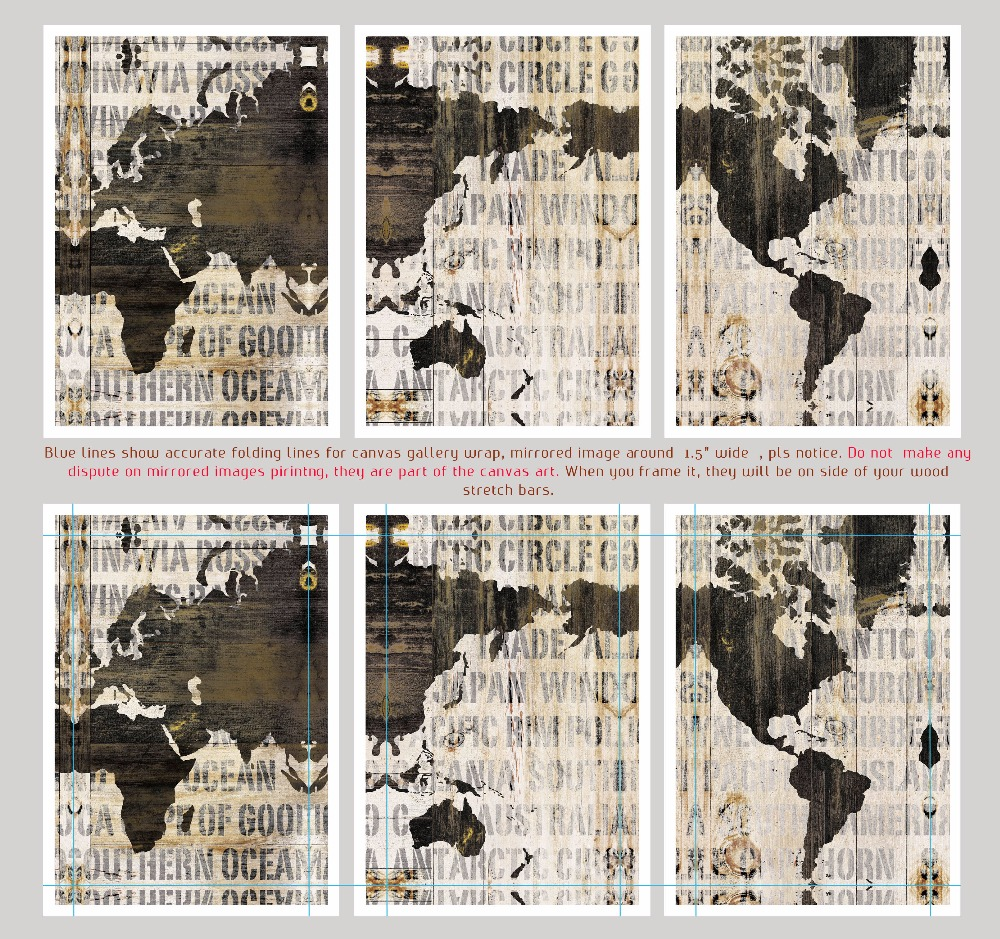 3 in 1 world map canvas art print large wall art painting print for 3 in 1 world map canvas art print large wall art painting print for home and office wall decoration home decor unframed in painting calligraphy from gumiabroncs Image collections