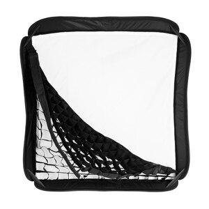 Image 4 - Godox Pro Adjustable 60cm x 60cm Flash Soft Box Honeycomb Grid Kit with S Type Bracket Bowen Mount Holder for Speedlite Flash