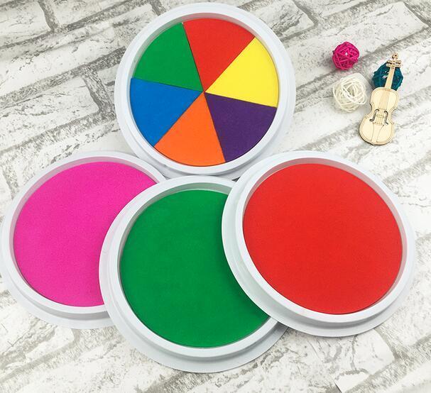 16mm dedo DIY pintura dibujo coloreado arte Ink pad inkpad colores ...