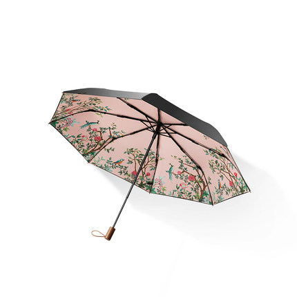 [TB07] protection solaire petit parapluie noir pliant parapluie femme anti-UV parasol