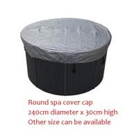 240 cm di diametro x 30 cm alta ROTONDA vasca idromassaggio tappo di copertura del sacchetto Altro Formato può essere disponibile