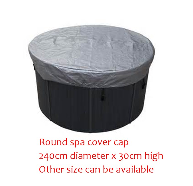 240cm diameter x 30cm high ROUND spa hot tub cover cap bag Other Size can be available 2200mmx1900mm hot tub spa cover leather skin can do any other size