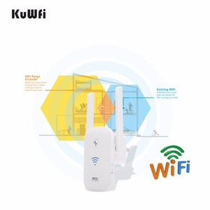 Image 3 - KuWFi 2.4Ghz 300Mbps WiFi Amplifier Repeater Access Point Client Roteador WiFi Range Extender Booster With Antenna 2*3dBi
