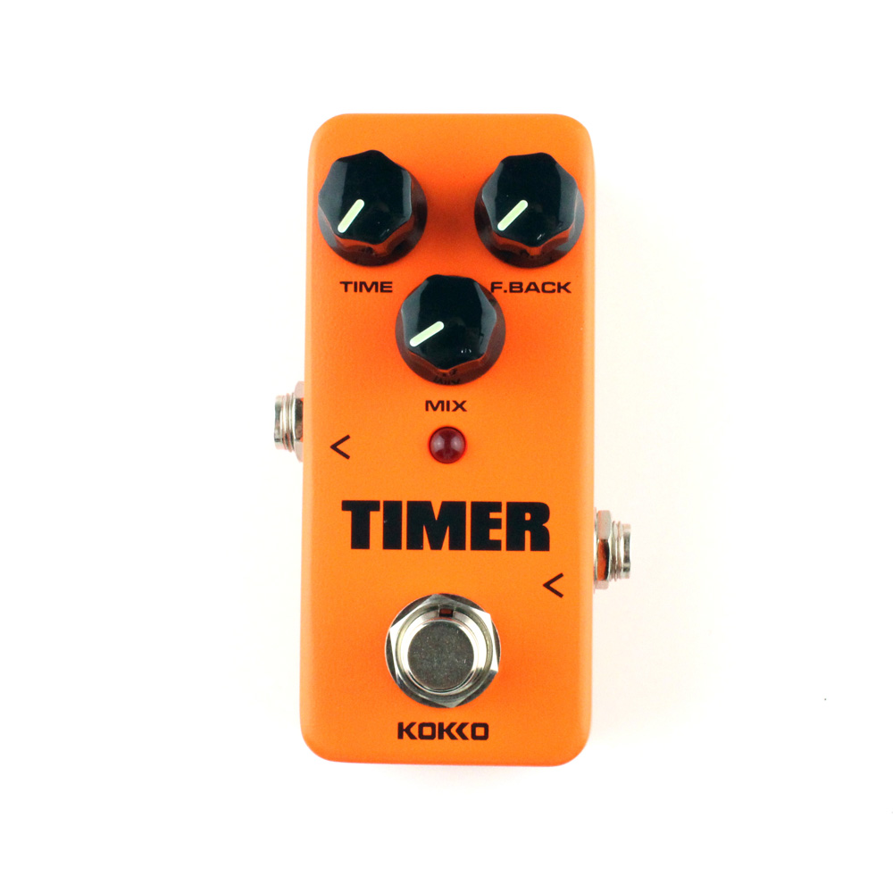 Mini Delay Guitar Effects Digital Effect Pedal Time Mix Fback Control Ture bypass Kokko Timer mooer ensemble queen bass chorus effect pedal mini guitar effects true bypass with free connector and footswitch topper