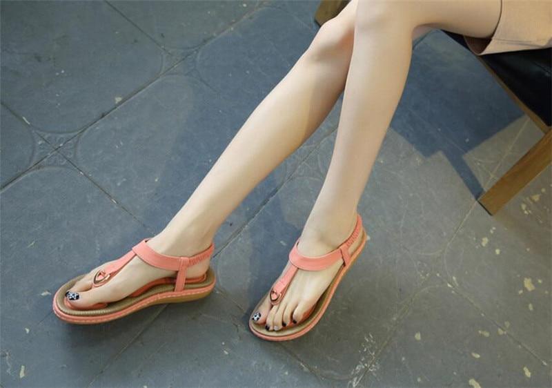 HTB1znh4vRmWBuNkSndVq6AsApXa8 Summer Shoes Women Bohemia Ethnic Flip Flops Soft Flat Sandals Woman Casual Comfortable Plus Size Wedge Sandals 35-45