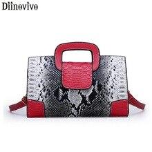 DIINOVIVO Serpentine Luxury Handbags Women Bags Designer Tote New Crossbody bags for women 2019 PU Leather Female Bags WHDV1167