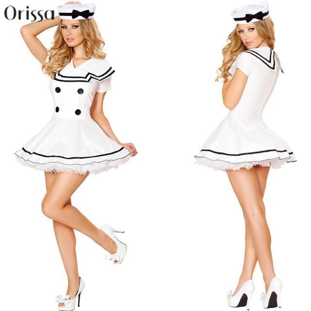af19e66eb Sexy lindo blanco marinero marino fiesta de disfraces mar sexy disfraces  náuticos Marina marinero sexy traje