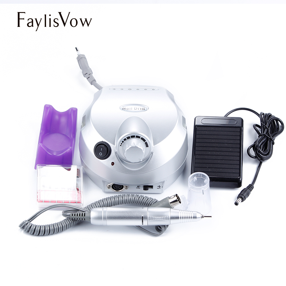 30000RPM Electric Nail Drill Machine Electric Manicure Machine Drills Accessory Pedicure Kit Nail Drill File Bit Nail Tools excellet value 1 pc blue medium 3 32 white ceramic nail drill bit manicure professional electric manicure cutter nail tools