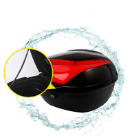 Large Capacity Shock proof Motorcycle Tail Box Universal Electric Bicycle Trunk Top Case With Safety Lock Buckle