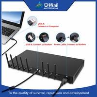 USB interface rack mountable 1U SMS modem GSM/GPRS multi sim card wavecom bulk sms device q2406b