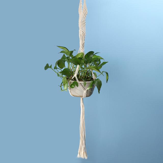 2 Size Macrame Flower Pot Hanger Holder Jute Rope Handmade Home Garden Decoration Hanging Flower Plants Display
