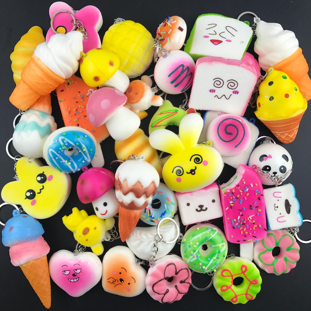 10 PCS Random Squishy Panda Bread Ice Cream Slow Rising Cute Phone Straps Cake Buns Pendant Toy Kid Squeeze Scented Charms радиоуправляемый самолет dynam albatros world war i 2 4g