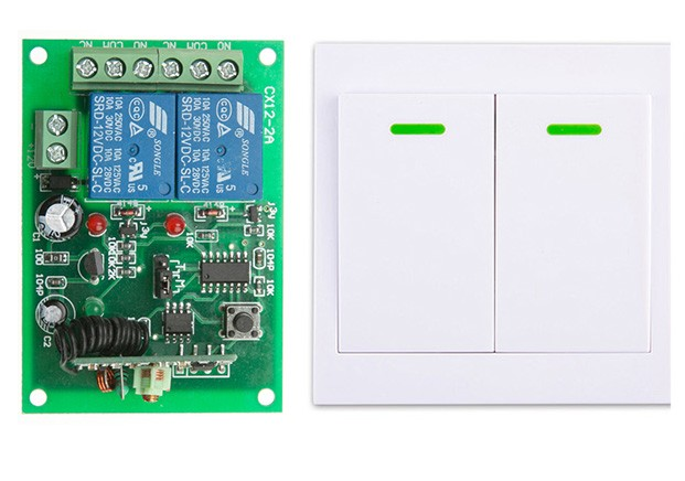 Digital Remote Control Switch DC12V 2CH Receiver +Wall Transmitter Wireless Power Switch 315MHZ Radio Controlled Switch Relay fk 922a 2 ch family use digital wireless remote control switch white