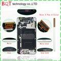 Dhl libre n9005 lcd con marco para samsung galaxy note 3 Pantalla LCD Con Pantalla Táctil Digitalizador Asamblea LCD N9000 y Pluma