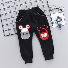 лучшая цена Kids Pants Fit 1-4Y Baby Boys Girls Fashion Cartoon Pattern Pants Kids Clothing Boys Long Trousers Sport Pants Spring/Autumn