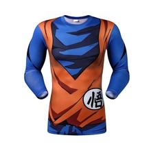 New 2016 people long sleeve T-shirt cartoon dragonball magic cloth, welfare, meat, robot tight t-shirts fitness movement