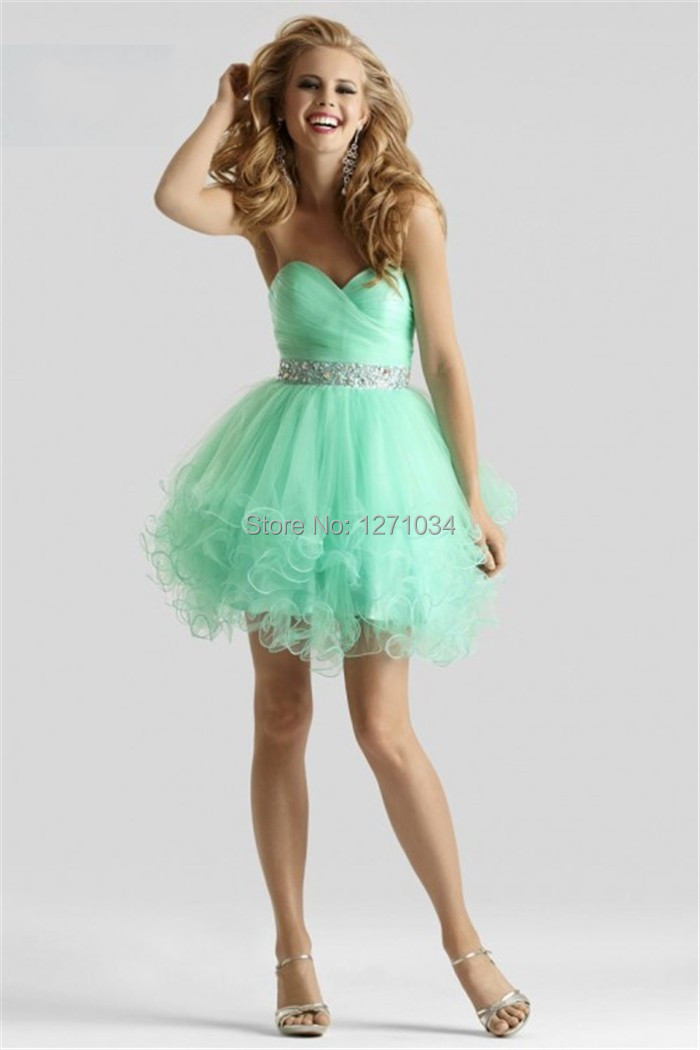 Light Green Short Prom Dress