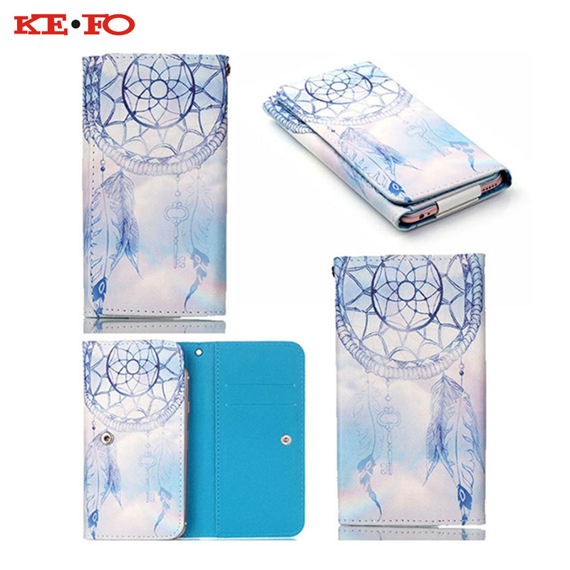 ⑧2016 Beautiful Painting Universal Magnetic Flip Case Wallet Pouch ...