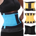 Mulheres Homens Trainer Cintura Cinto Shaper Cintura Cincher Tummy Trimmer Ajustável Cinto de Suporte Para as Costas Respirável Diárias Malha
