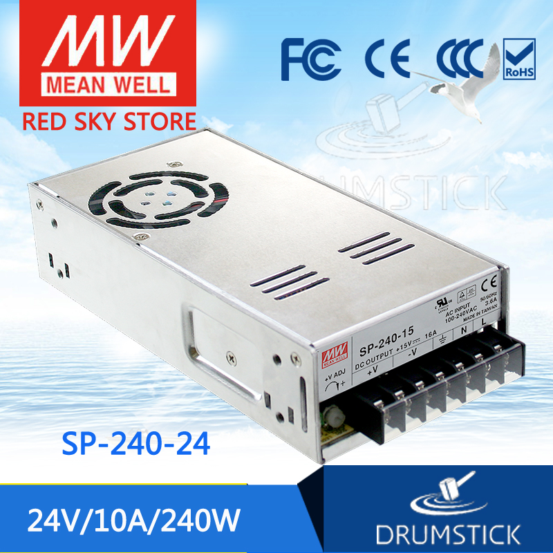 (12.12)MEAN WELL SP-240-24 24V 10A meanwell SP-240 24V 240W Single Output with PFC Function Power Supply aaa mean well original sp 320 24 24v 13a meanwell sp 320 24v 312w single output with pfc function power supply