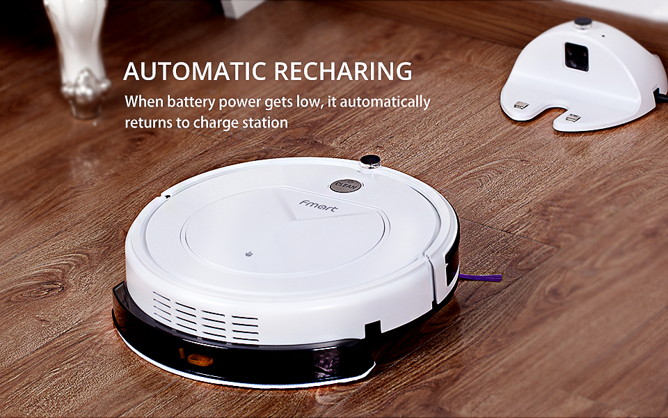 Pro Robot Vacuum Cleaner with Self-Charge Wet Mopping for Wood Floor (8)