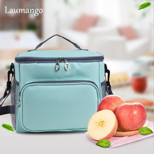 Laumango Cooler Bag Portable Insulation Large Meal Package Lunch Box Picnic Food Storage Tote Inclined shoulder Bag