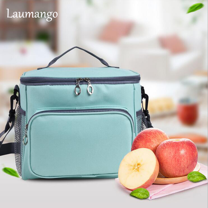 Laumango Cooler Bag Portable Insulation Large Meal Package Lunch Box Picnic Food Storage Tote Inclined shoulder Bag ...