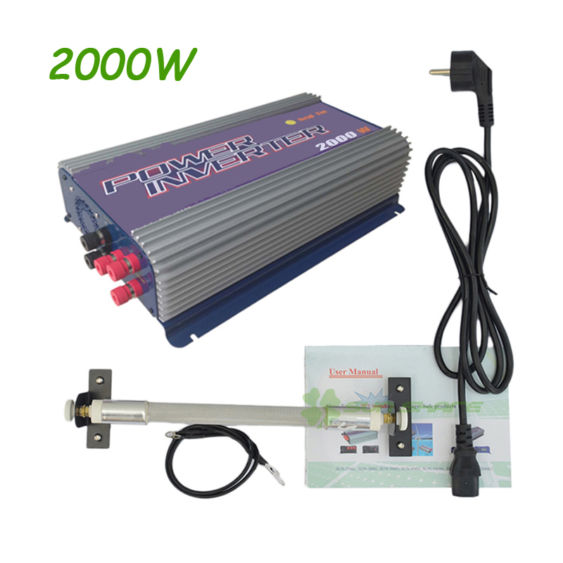 Free shipping ! 2000W Wind Power Grid Tie Inverter with Dump Load Controller for 3 Phase wind turbine AC input ,AC output maylar 3 phase input45 90v 1000w wind grid tie pure sine wave inverter for 3 phase 48v 1000wind turbine no need extra controller