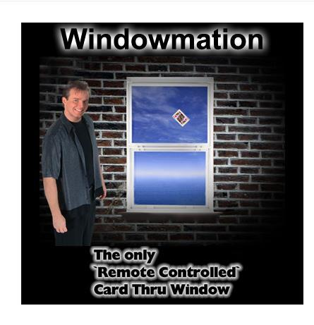 Free shipping,WindowMation Remote Control Card Thru Window-Magic Trick,stage magic props,close upmagic,mentalism,comedy  remote control electronic ignition device suit for stage magic trick magic trick with free shipping