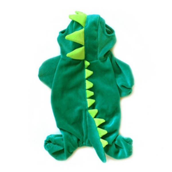 New Dogs Pets Puppy Green Dinosaur Hooded Clothes Jumpsuit Coat Costume HotWX