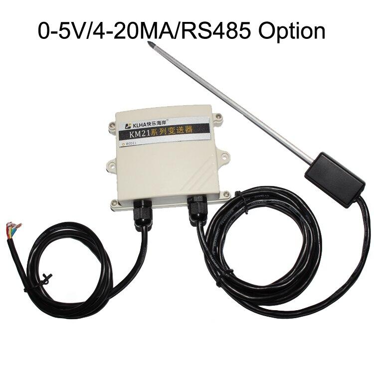 Livraison gratuite 1 PC 0-5 V LED affichage numérique capteur de pH du sol/capteur testeur de PH RS485 MODBUS RTU/4-20MA transmetteur de capteur de sol ph 12-30 V