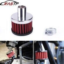 RASTP-16mm Универсальный красный гоночный маленький воздушный фильтр с высоким потоком для мотоцикла турбо холодный воздухозаборник фильтр с логотипом RS-OFI015