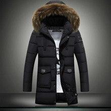 M-3xl! зимняя Куртка Мужчины 2016 мужская Мода Досуг Плюс Размер Человек Теплый Чистый Цвет Более Стильные Зимние Куртки Мужчины