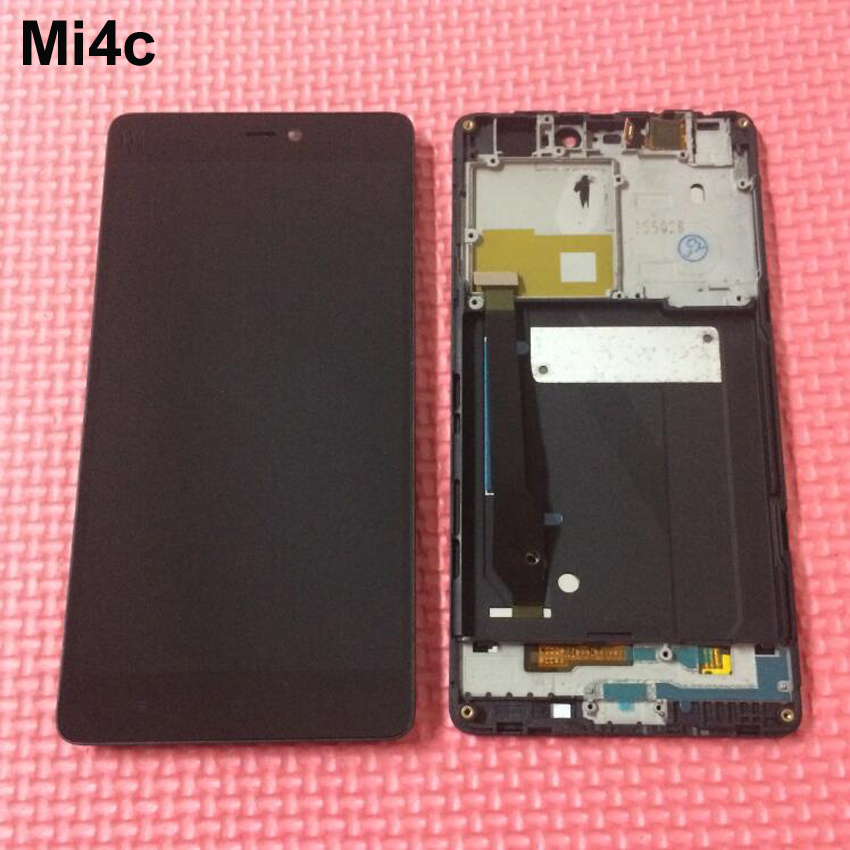 Подробнее о 100% Tested Working LCD Display Touch Screen Digitizer Assembly with Frame For Xiaomi Mi4c Mi 4c M4c Phone Replacement Parts lcd display touch screen digitizer assembly for xiaomi mi4c mi 4c m4c replacement parts
