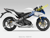 Hot Sales,For Honda CBR600F 2011 2012 2013 CBR 600 F CBR 600F 11 12 13 Blue White Motorcycle Fairing Kit (Injection molding)