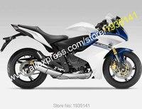 Hot Sales,For Honda CBR600F 2011 2012 2013 CBR 600 F CBR 600F 11 12 13 Blue White Motorcycle Fairing Kit (Injection molding)