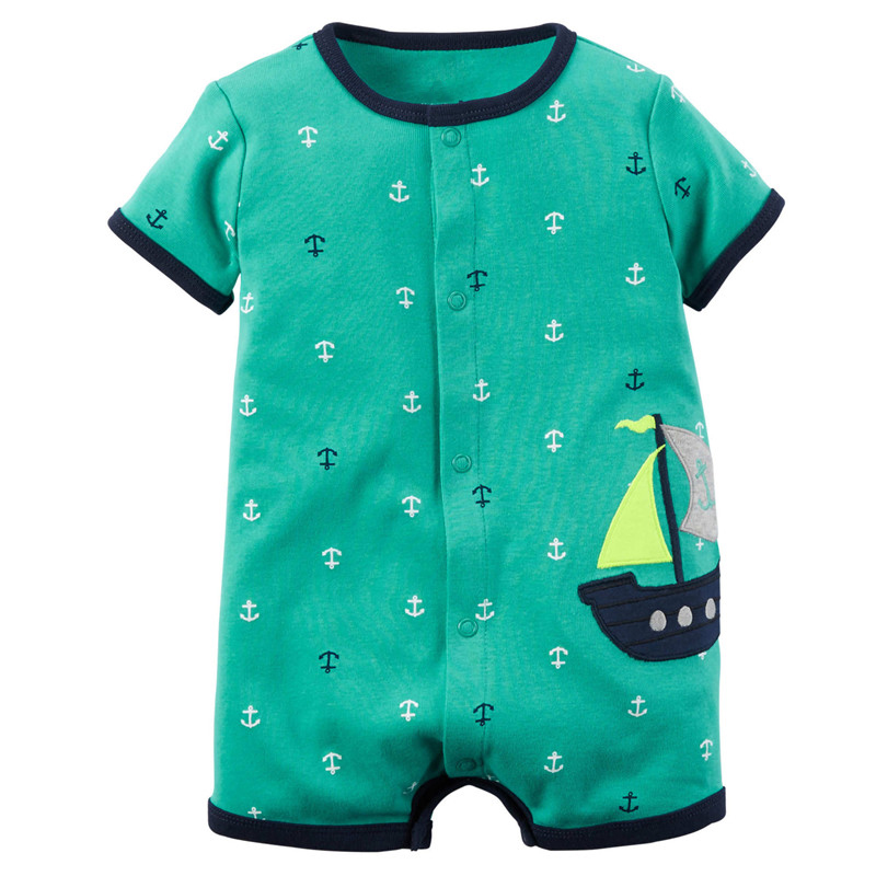 Brand Baby Rompers Summer Baby Girl Clothes 2017 Baby Boy Clothing Fashion Newborn Baby Clothes Roupas Bebe Infant Jumpsuits summer 2017 navy baby boys rompers infant sailor suit jumpsuit roupas meninos body ropa bebe romper newborn baby boy clothes